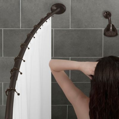 Alumia™ Single Curved Shower Rod in Chrome