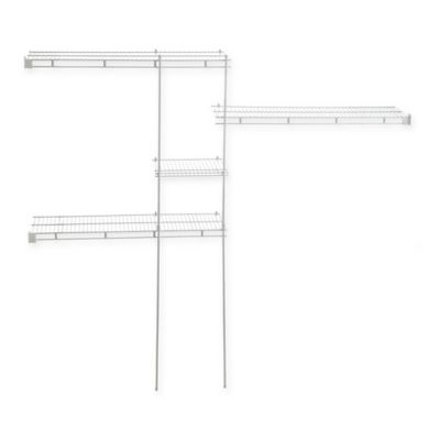ClosetMaid® 5-Foot to 8-Foot Fixed Mount Wire Closet Organizer Kit in White