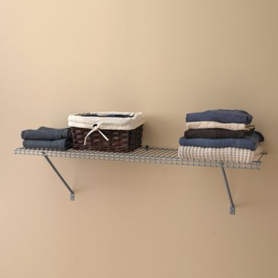 ClosetMaid® 3-Foot Wire Shelf Kit in Brushed Chrome