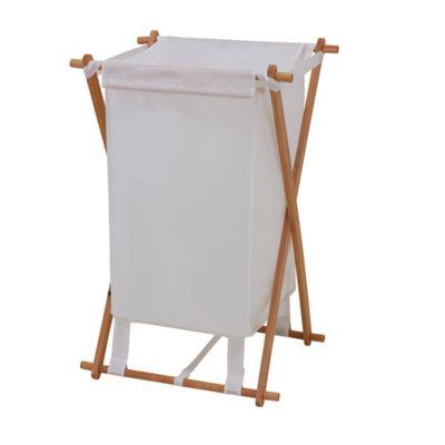 Household Essentials® Fir Wood X-Frame Laundry Hamper