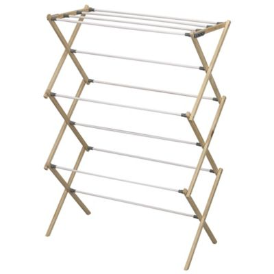 Household Essentials® Pine Wood X-Frame Drying Rack