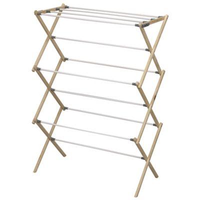 Household Essentials® Pine Wood X-Frame Drying Rack