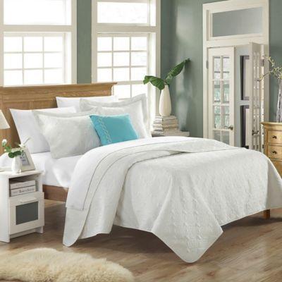 Chic Home Garibaldi 8-Piece King Quilt Set in White