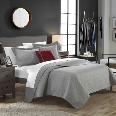 Chic Home Garibaldi 4-Piece Queen Quilt Set in Taupe