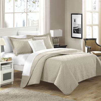 Chic Home Garibaldi 4-Piece King Quilt Set in Taupe