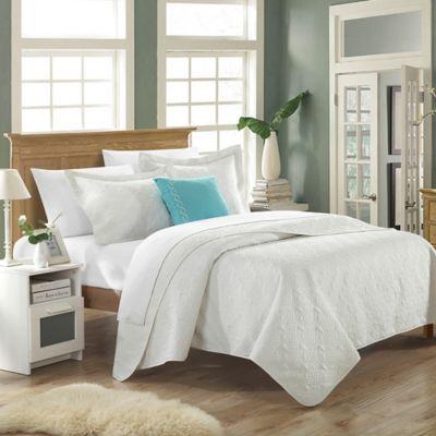 Chic Home Garibaldi 4-Piece Queen Quilt Set in White