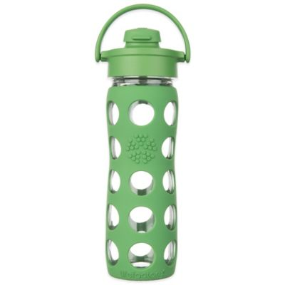 Lifefactory® 22 oz. Glass Water Bottle with Flip Cap in Raspberry