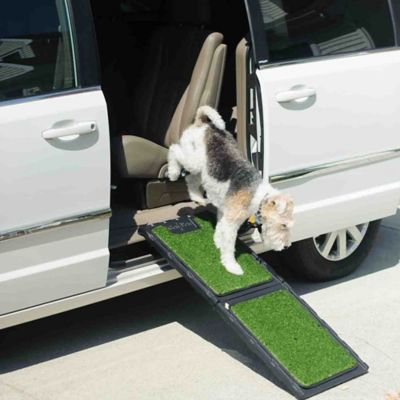 Folding Artificial Turf 42-Inch Dog Ramp
