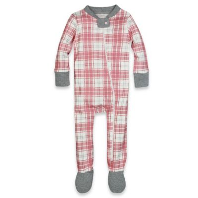 Burt's Bees Baby® Size 18M Plaid Organic Cotton Footed Pajama in Pink