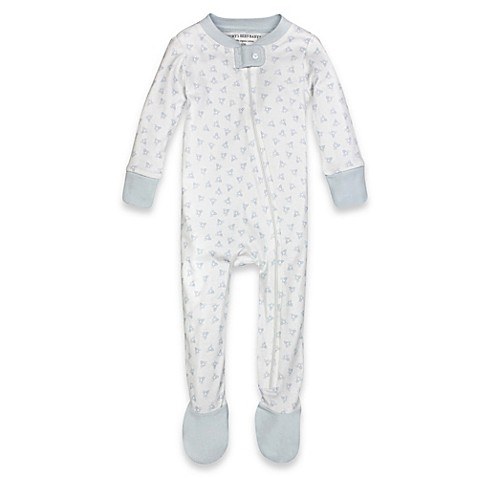 Check out these Blue and White striped adult footed pajamas! They are super comfy, unisex for that hard to shop for person, features a hoodie, thumb holes and front pockets.