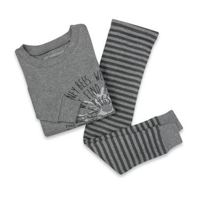 Burt's Bees Baby® Size 24M Bullseye Bee 2-Piece Organic Cotton Pajama Set in Grey