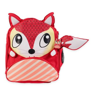 Green Frog Fox Backpack in Red