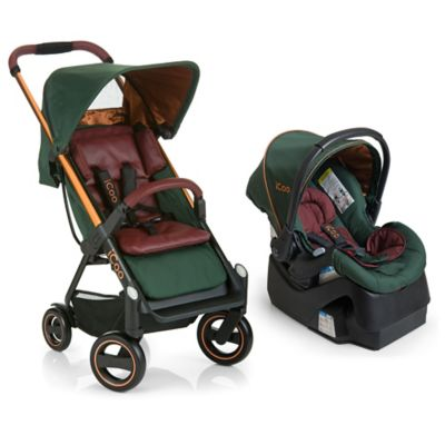 iCoo Acrobat/iGuard 35 Travel System in Copper Green
