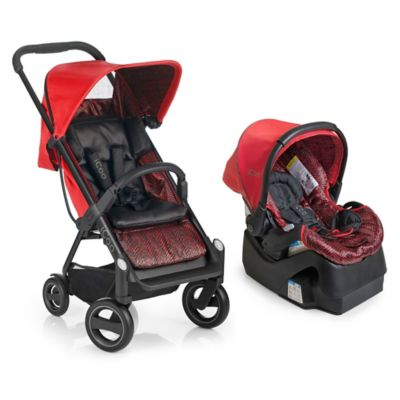 iCoo Acrobat/iGuard 35 Travel System in Fishbone Red