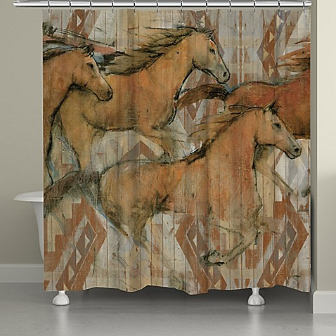Laural Home Southwestern Horses Shower Curtain Bed Bath Beyond