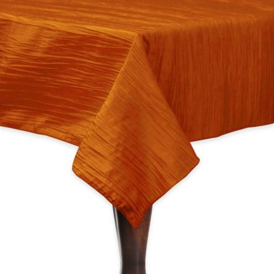Delano 50-Inch Square Tablecloth in Fire Orange