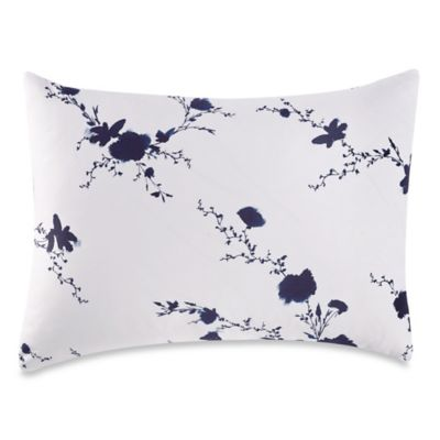 Vera Wang™ Ink Wash Floral Standard Pillow Sham in Ink