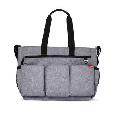 SKIP*HOP® Duo Double Signature Diaper Bag in Heather Grey
