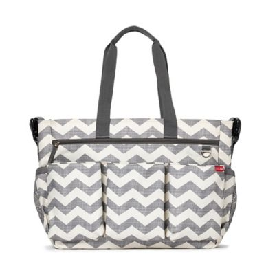 Skip Hop® Duo Double Signature Chevron Diaper Bag