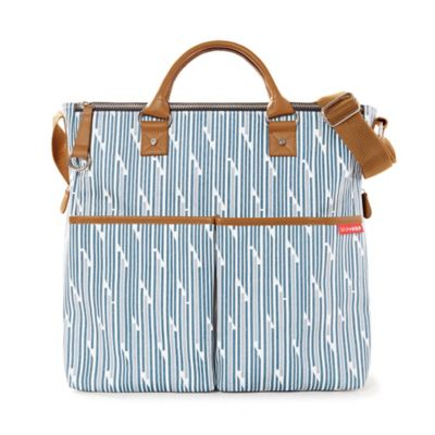 Skip Hop® Duo Special Edition Diaper Bag with Blueprint Stripe