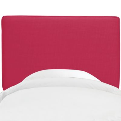 Skyline Furniture Aubrey Twin Headboard in Fuchsia