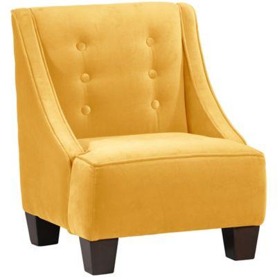 Skyline Furniture Wilson Kids Chair in Velvet Canary