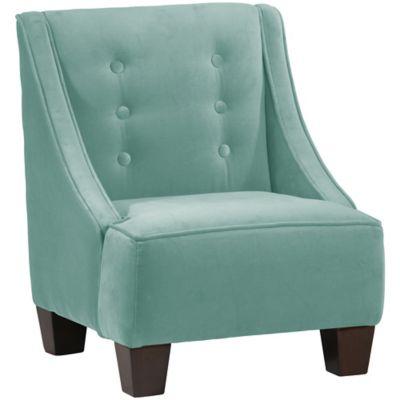 Skyline Furniture Wilson Kids Chair in Velvet Caribbean
