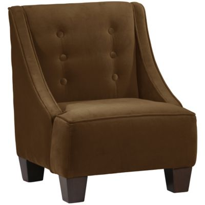 Skyline Furniture Wilson Kids Chair in Velvet Chocolate