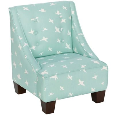 Skyline Furniture Wilson Kids Chair in Bird Silhouette Canal