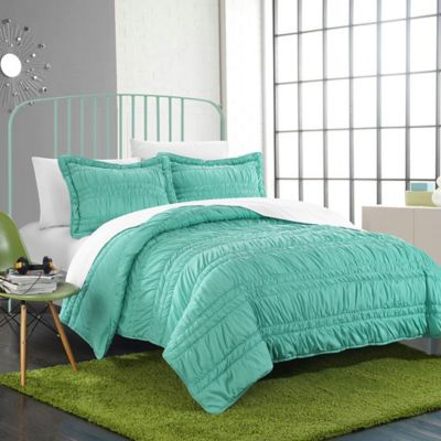Chic Home Yukon Twin Quilt Set in Turquoise