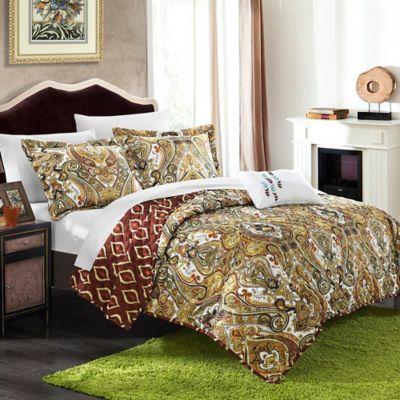 Chic Home Zedara 8-Piece Reversible Queen Quilt Set in Fuchsia