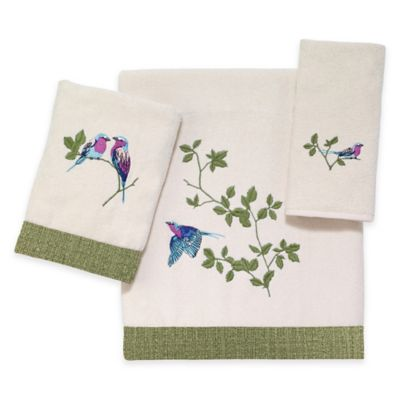 Hand Towels with Birds