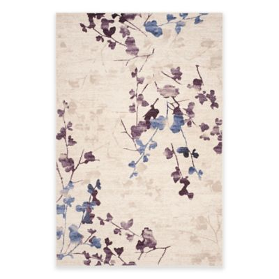 Safavieh Evoke Branches A5-Foot 1-Inch x 7-Foot 6-Inch Area Rug in Ivory/Purple