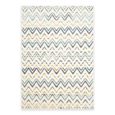 Safavieh Evoke Chevron 5-Foot 1-Inch x 7-Foot 6-Inch Area Rug in Ivory/Blue