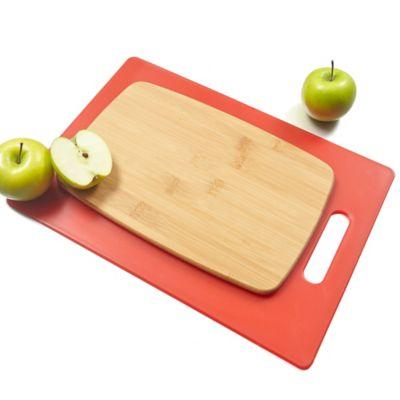 Architec® Poly & Bamboo 2-Piece Cutting Board Set
