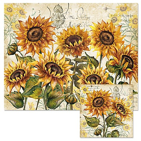 Buy Tuscan Sunflower 12 Inch X 15 Inch Glass Cutting Board