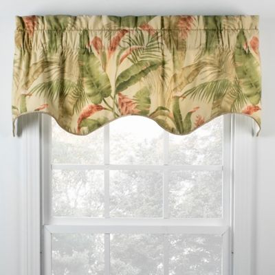 Samara 15-Inch Scallop Window Valance in Vanilla