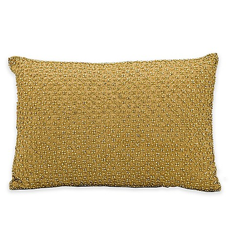 Gold Rectangle Throw Pillow : kathy ireland Home by Nourison Rectangle Tic Tac Toe Throw Pillow in Gold - Bed Bath & Beyond
