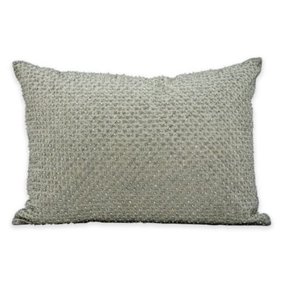 Kathy Ireland Home® by Gorham Rectangle Tic Tac Toe Throw Pillow in Silver/Grey