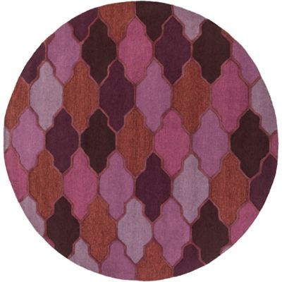 Artistic Weavers Pollack Morgan 3-Foot 6-Inch Round Area Rug in Purple