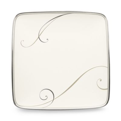 Noritake® Platinum Wave Small Square Accent Plate