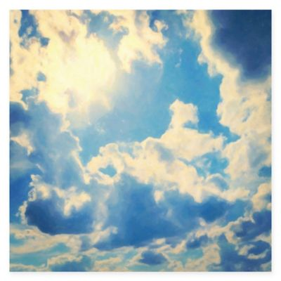 Marmont Hill Clouds 18-Inch x 18-Inch Canvas Wall Art