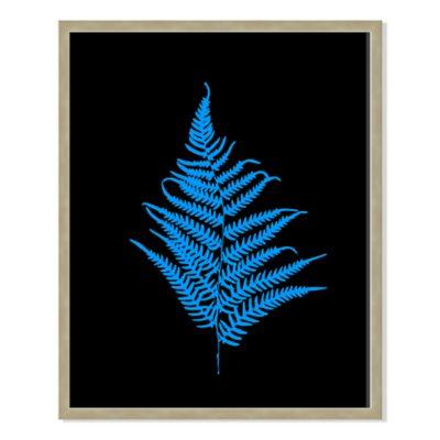 Neon Plant Black III 31-Inch x 40-Inch Framed Print