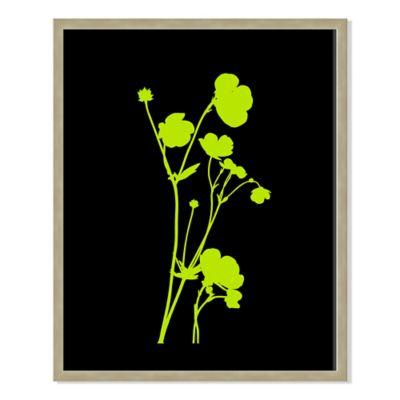 Neon Plant Black VIII 22-Inch x 28-Inch Framed Print