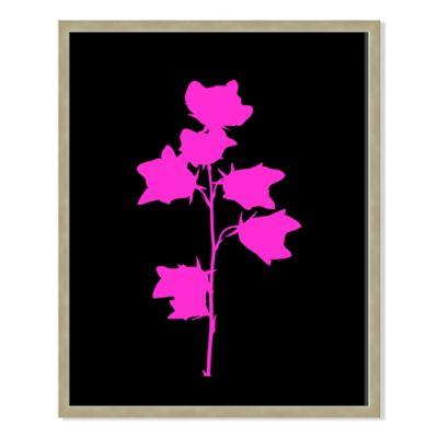 Neon Plant Black XII 31-Inch x 40-Inch Framed Print