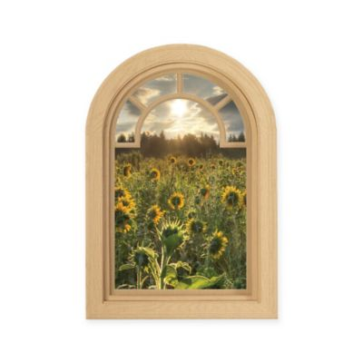 Contour Art Elements Sunflowers 16-Inch x 24-Inch Wall Decal