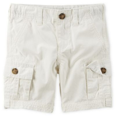 carter's® Size 18M 5-Pocket Cargo Short in White