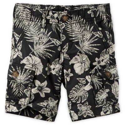 carter's® Size 18M Hawaiian Print Short in Black