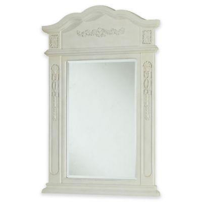 Palazzo Vanity Mirror in Antique White