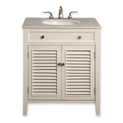 Hampton 30-Inch Single Vanity with Marble Top in White